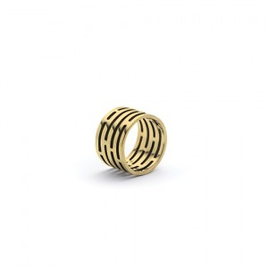 The Arsène-Henry ring from The Modernists collection is handmade by Julie Bégin using pure 14 k yellow gold.