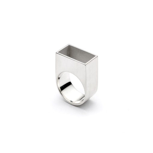 The Gropius ring from The Modernists collection is handmade by Julie Bégin using pure sterling silver.