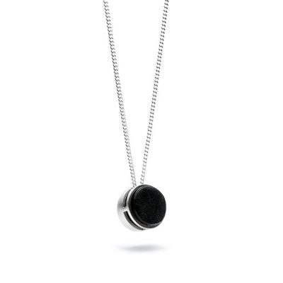 Metamorphosis necklace from the Shou Sugi Ban collection, handcrafted by Julie Bégin using pure sterling silver and hand charred wood.