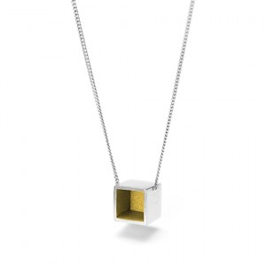 Safdie necklace from The Modernists collection is handmade by Julie Bégin using pure sterling silver with 24k yellow gold.
