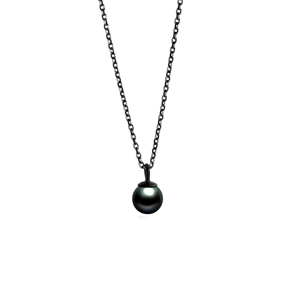 winterson keshi necklace white sterling silver pearl black freshwater with in